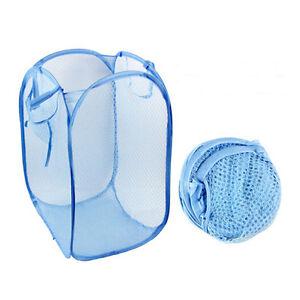 Pop Up Foldable Mesh Laundry Hamper Basket Various Colors