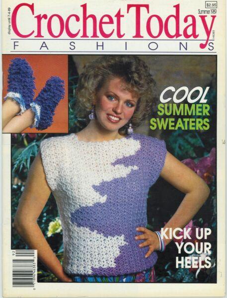Vintage Crochet Today Fashions Magazine Summer 1989 323143399237