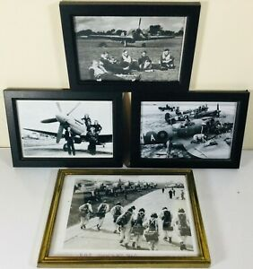 COLLECTION-OF-FRAMED-RAF-PHOTOGRAPHS-PRINTS-INC-RAF-HORNCHURCH-CREW-PHOTOS