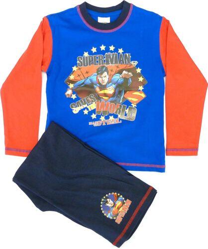 Boys Kids Marvel Superman DC Comics Cotton Long Pyjama Sleepwear Nightwear