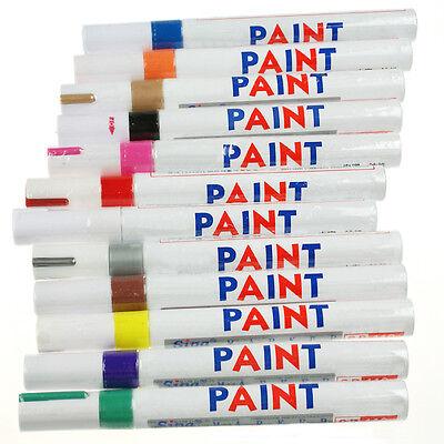 Universal Waterproof Permanent Paint Marker Pen Car Tyre Metal Rubber Plastic