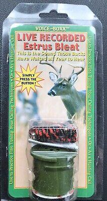 Voice Boxx Live Recorded Deer Buck Estrus Bleat ~ New in Package
