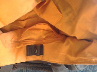 Tasche Braun Glitzer Orange