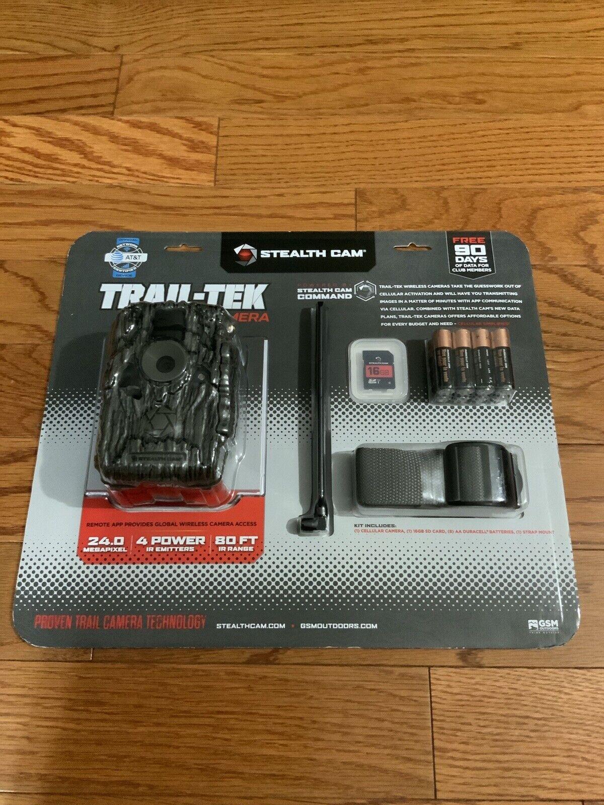 Free Shipping! Trail-Tek Cellular Camera 24 MP Stealth Cam STC-FVRZW V2