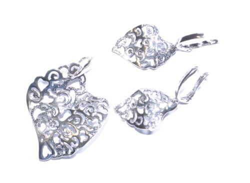 Echtes 925 plata joyas set de plata 925-rhodiniert-novedad otoño de 2015
