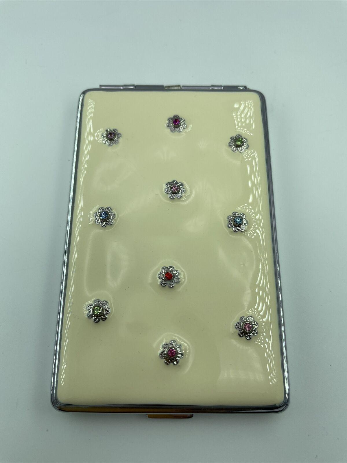 BUSINESS CARD HOLDER+PhoneBook by Spring Street-NEW Swarovski Crystals Gold Pltd