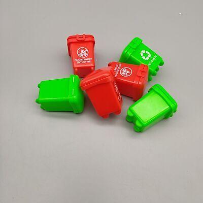 10pcs Random Super Mini Kids Garbage Classification Trash Can Truck Cans Toy