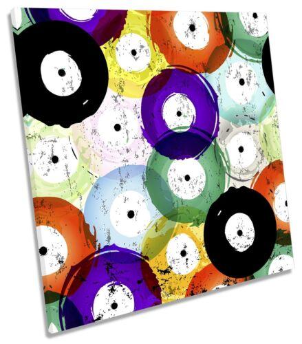Vinyl record Abstrait Toile Wall Art Square Art Imprimé