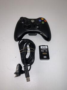 Manette Microsoft Xbox 360 - sans fil Officielle + câble + batterie