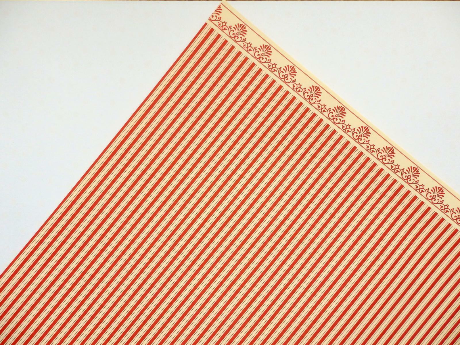 Melody Jane Casas de Muñecas Rojo En Crema Windsor raya imprimir en Miniatura Wallpaper