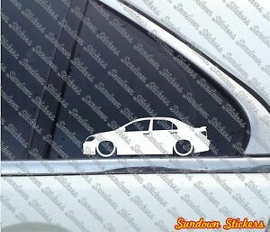 2x Lowered Car Outline Stickers For Toyota Corolla S Xrs Sedan
