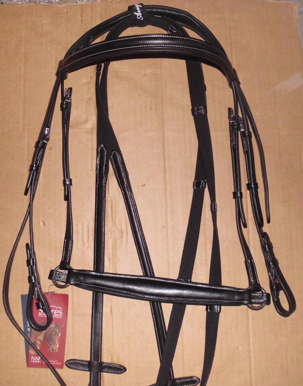 Shires Equestrian Trense Avignon,Art.4233IT, black,hann.Reithalfter,Vollbluet