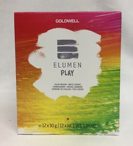 Goldwell ELUMEN PLAY Color Eraser Full Box of 12 Packets Hair Color Remover