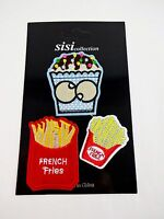 Iron On Patches Cupcake French Fries Package Of 3