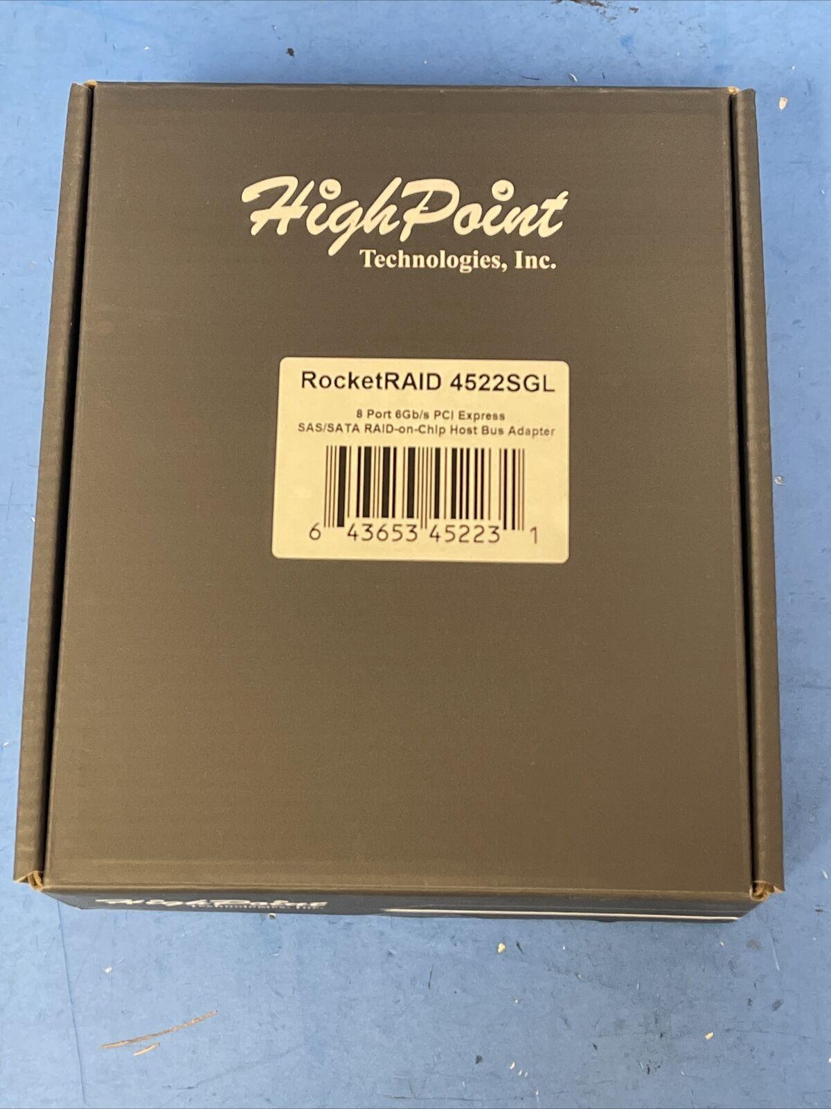 HighPoint RR4522SGL RocketRAID 4522 Controller Card 8 PORT 6GB/S PCI EXPRESS SAS