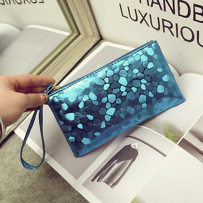 Cute Women Bling Clutch Leather Handbag Key Phone Purse Lady Wallet Card Holder