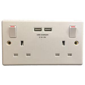 NEUF-GSM-audio-espion-BUG-en-Double-Prise-Secteur-avec-2A-Chargeur-USB-moderne