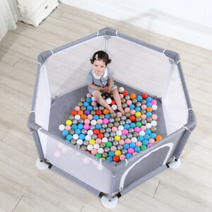 140 x 65cm Large Portable Kid Playpen In/Outdoor Baby Safety Fence Playing House