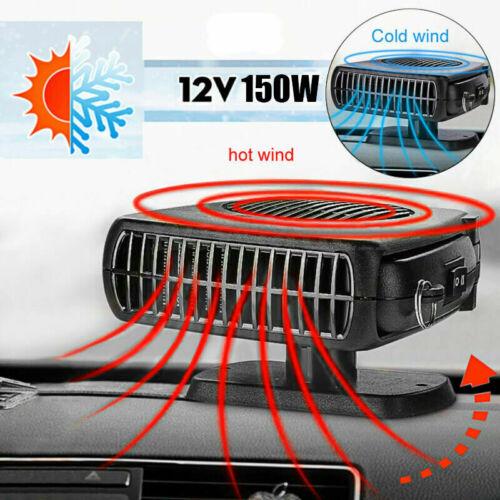 12V 150W Demister Car Auto Portable 2 In 1 Heater Cooler Fan Plugin Dryer UK