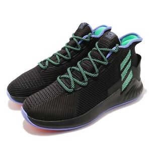 check out 5fd0c 38b4e Image is loading adidas-D-Rose-9-Derrick-Black-Green-Purple-