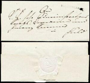 1809, HAMMELBURG, behördl. portofreier Militariabrief nach Fulda (Hb € 200.00)