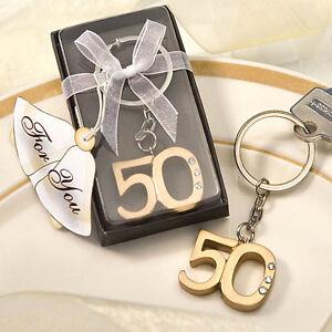 Bomboniera Portachiavi Anniversario 50 Anni Compleanno Cod 390 Ebay
