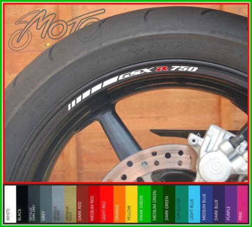 8 x SUZUKI GSXR 750 Wheel Rim Stickers Decals gsx r 750 gsxr750 srad k