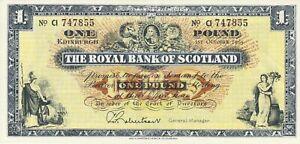 Vintage-Banknote-Scotland-Choice-UNC-1965-1-Pound-Pick-325b-US-Seller
