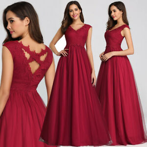Ever-Pretty-Plus-Size-Bridesmaid-Dresses-Mesh-Long-Formal-Prom-Dress-Burgundy