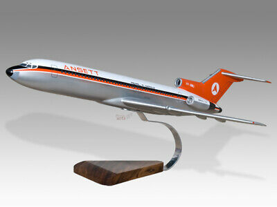 Boeing 727-200 Ansett Vh-rmu Solid Dried Mahogany Wood Handmade Desktop Model Orders Are Welcome. Models Transportation Collectables