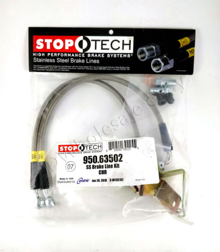 REAR BRAKE LINES FOR 06-14 DODGE CHARGER SRT8 STOPTECH STAINLESS STEEL FRONT