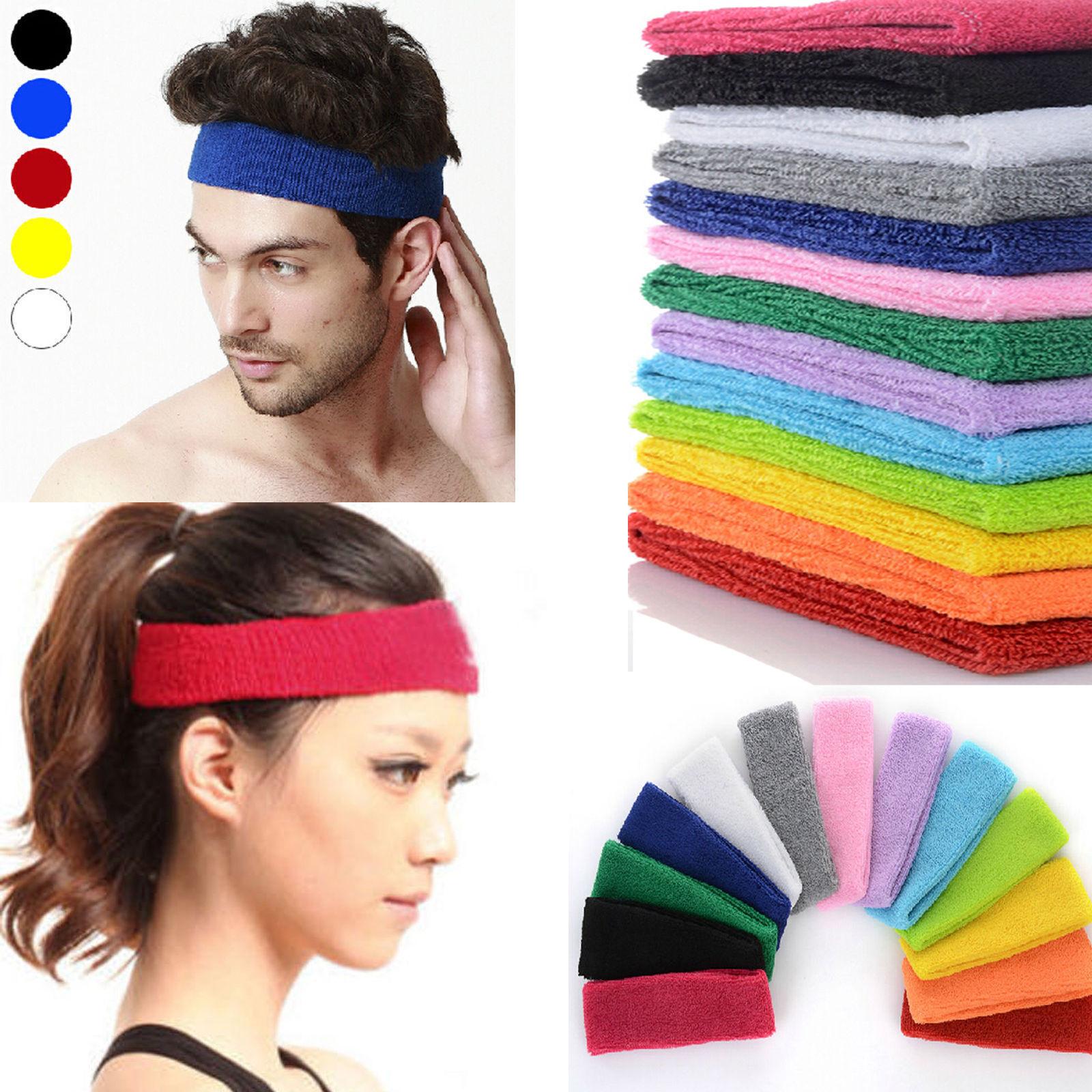 femmes hommes sport serre t te bandeau lastique yoga gym de t te cheveux. Black Bedroom Furniture Sets. Home Design Ideas