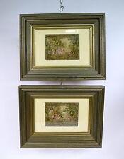 2 x Gobelin Gobelinstickerei gerahmt um 1900