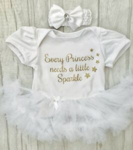 AgréAble Princesse Newborn Tutu Ange, Paillettes D'or Chaque Princesse Besoins Sparkle, Cadeau-afficher Le Titre D'origine Sensation Confortable