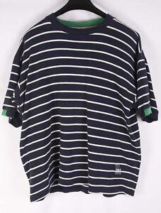 Gant-T-Shirt-Vintage-Blue-White-Stripe-size-L