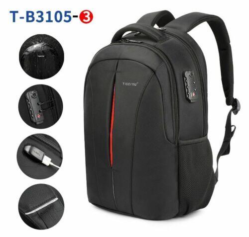 Laptop Bag Waterproof 15.6inch NO Key TSA Anti Theft Unisex Travel Backpacks