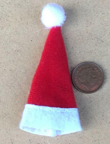 Escala 1:12 Rojo Paño Navidad Sombrero tumdee casa de muñecas en miniatura de ropa Tw