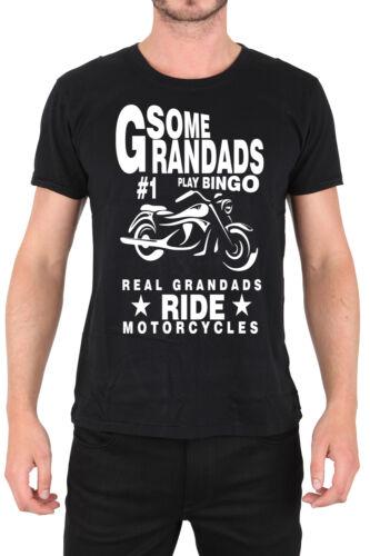 some grandads play bingo real grandads ride motorcycles bike  mens t-shirt tee