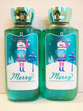 Bath Body Works Holiday Traditions MERRRY MARSHMALLOW KISS Shower Gel, NEW x 2