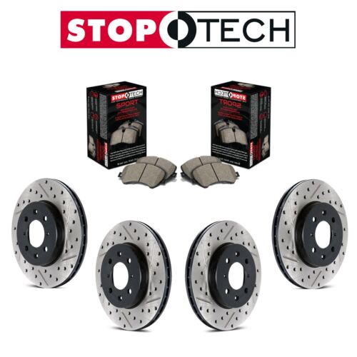 For Ford Mustang Full Front and Rear Disc Brake Rotors /& Sport Pads StopTech Kit