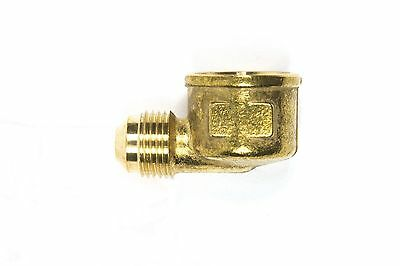 """MALE 3//8/"""" FLARE TO MALE 1//4/"""" NPT PIPE THREAD PROPANE NATURAL GAS FITTING LP LPG"""