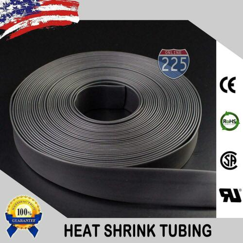 "10 FT Feet Black 1 1//4/"" 32mm Polyolefin 2:1 Heat Shrink Tubing Tube Cable US UL"