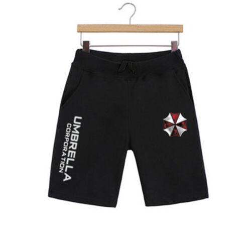 Hot Resident Evil 6 Umbrella Corporation Men/'s Casual Shorts Beach Short Pants