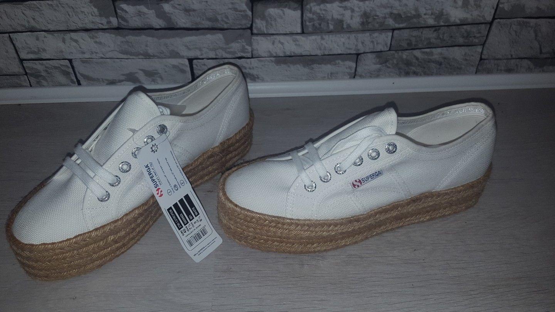 Size Size Size UK 6.5 EU 40 BNWT Superga Espadrille 2790 Cotrope Platform Sneaker Trainers 3731a9
