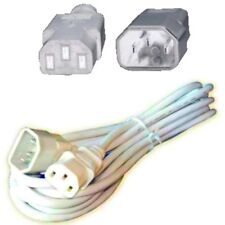 Lot10 1ft short Male~Female PC Power Extension Cord//Cable//Wire AC IEC320 C13~C14