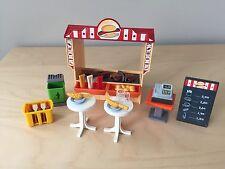 Playmobil Snack Bar Hot Dog Stand Fast Food Concession Shop Restaurant 6336