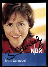 Britta Schnebel NDR Autogrammkarte Original Signiert # BC 63063
