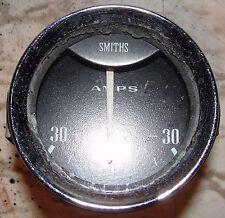 SMITHS AMP AMPS AMPERES GAUGE CHROME BEZEL WITH LIGHT BULB VINTAGE CAR