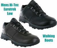 New Mens Hi-tec Eurotrek Low Waterproof Leather Hiking Shoes Trainers Size 7-13
