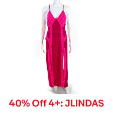For Love & Lemons Womens Laced Up Maxi Slip Dress Pink Small,40% Off 4+: JLINDAS